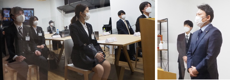 AHCグループ株式会社 本社(千代田区岩本町)において、福祉事業の入社式が行われました。